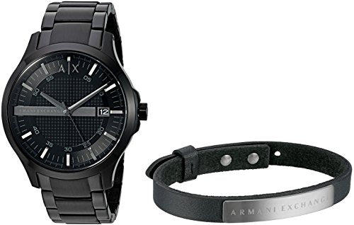 Armani Exchange Men's AX7101 Watch and Bracelet Gift Set