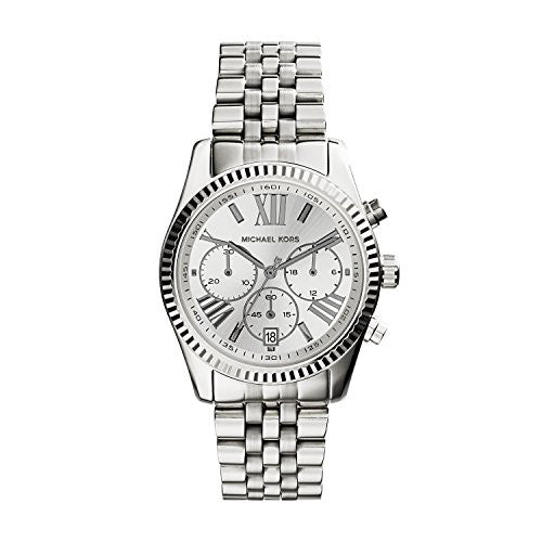 Michael Kors Women's Lexington Watch, Silver, One Size