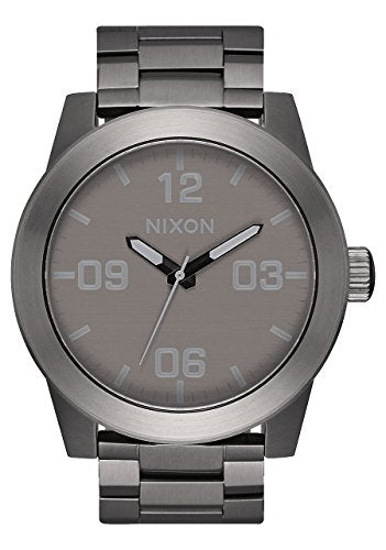 Nixon Corporal SS Watch All Gunmetal/ Grey plus Origami Watch Sleeve