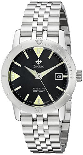 Zodiac Men's ZO9201 Heritage Analog Display Swiss Mechanical Automatic Stainless Watch