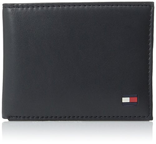 Tommy Hilfiger Men's Dore Passcase Billfold Wallet,Navy,One Size