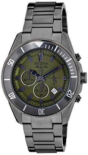 Bulova Men's 98B206 Analog Display Japanese Quartz Grey Watch