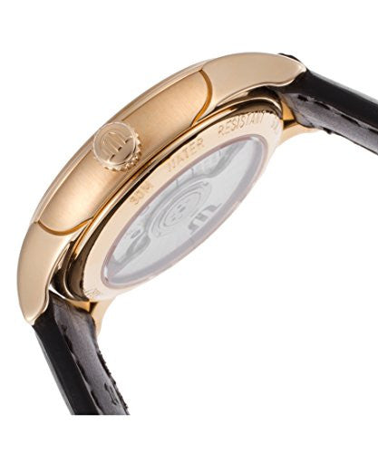 Maurice Lacroix Women's Automatic Black Alligator Silver-Tone Dial 18K Gold Case