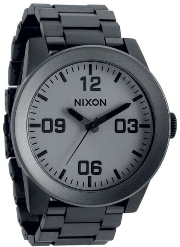 New Nixon Corporal SS A346 1062 Matte Black / Matte gunmetal watch