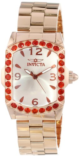 Invicta Women's 14494 Lupah Champagne Dial Fire Opal Accented 18k Rose Gold Ion-Plated Stainless Steel Watch