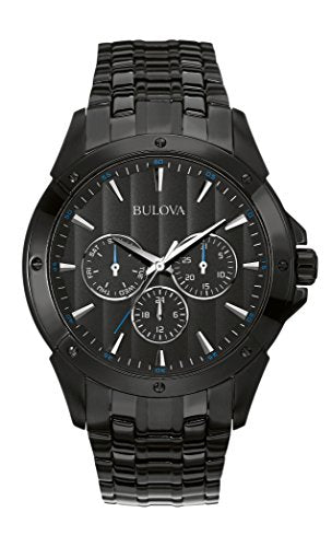 Bulova Men's 98C121 Sport Analog Display Japanese Quartz Black Watch