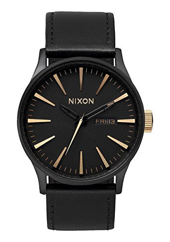Nixon Men's A105-1041 Sentry Matte Black Gold Watch
