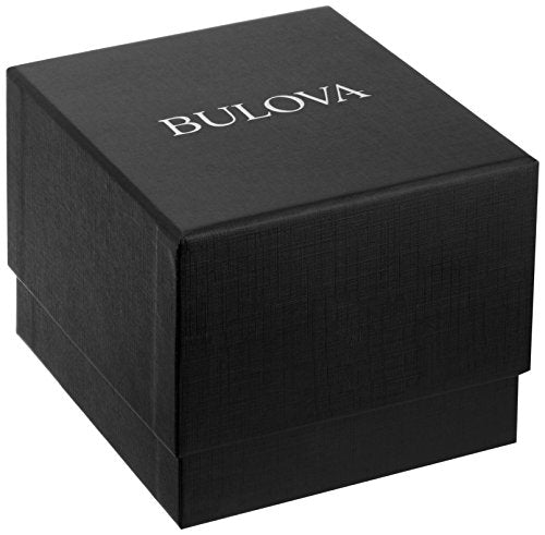 Bulova Men's Mechanical Hand Wind Stainless Steel Dress Watch, Color:Silver-Toned (Model: 96A187)