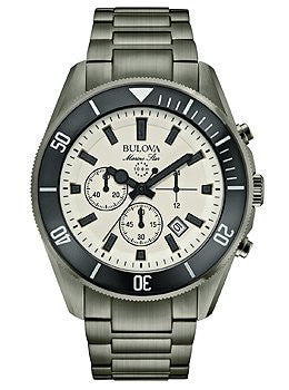 Bulova Men's 98B205 Analog Display Japanese Quartz Gray Watch