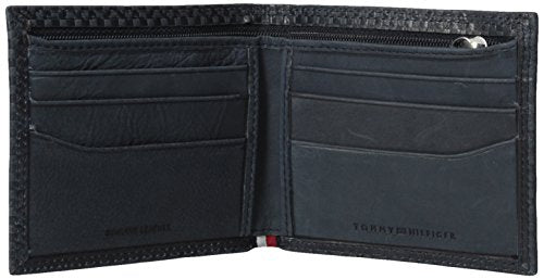 Tommy Hilfiger Men's 100% Leather Billfold With Interior Zipper