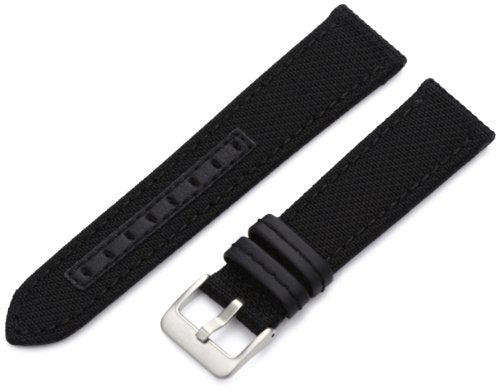 Hadley-Roma Men's MSM848RA 220 22-mm Black Genuine 'Kevlar' Watch Strap