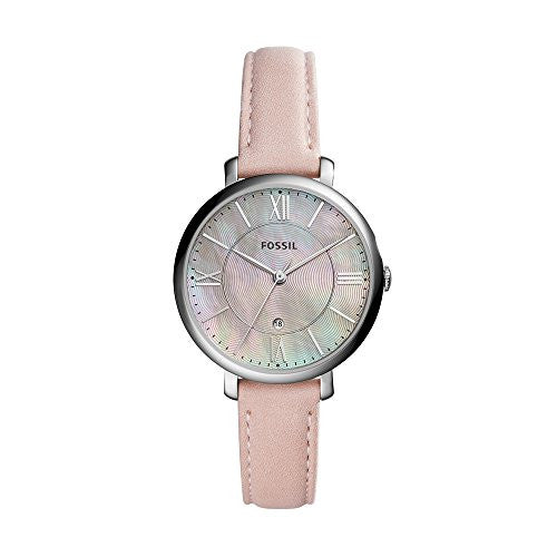 Fossil Women's ES4151 Jacqueline Three-Hand Date Blush Leather Watch