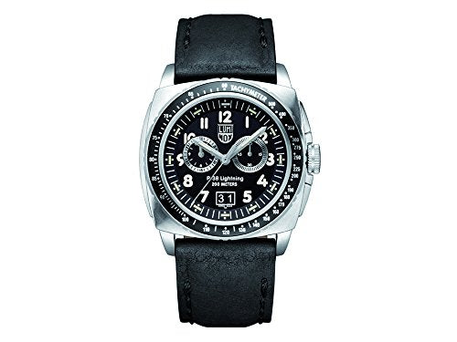 Luminox Men's 9441 P-38 Lightning 9420 Series Analog Display Analog Quartz Black Watch