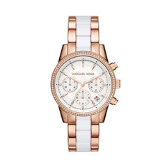 Michael Kors Women's Ritz Rose Gold-Tone Watch MK6324
