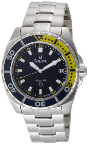 Bulova Men's 96B126 Marine Star Black Dial Watch
