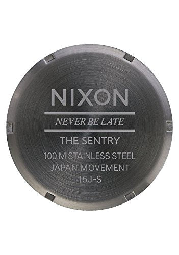 Nixon A105-2737 Men's Watch Sentry Leather Dark Brown 42mm Stainless Steel