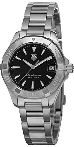 Tag Heuer Aquaracer Black Dial Stainless Steel Ladies Watch WAY1310.BA0915