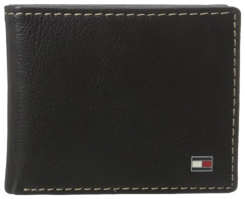 Tommy Hilfiger Men's Tommy Hilfiger Logan Double Billfold,Black,One Size