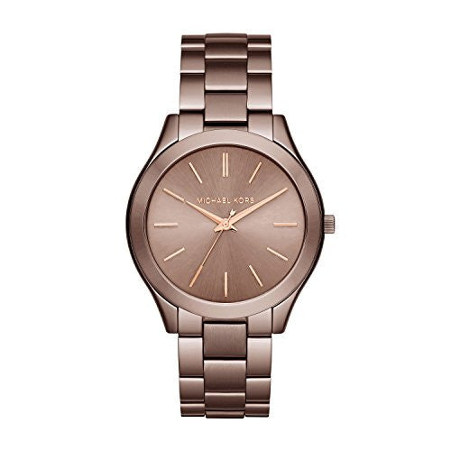 Michael Kors Women's Slim Runway Brown Watch MK3418