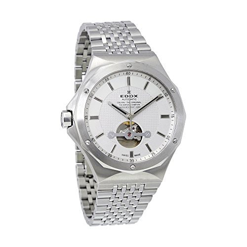 Edox Men's 85024 3M AIN Delfin Analog Display Swiss Automatic Silver Watch