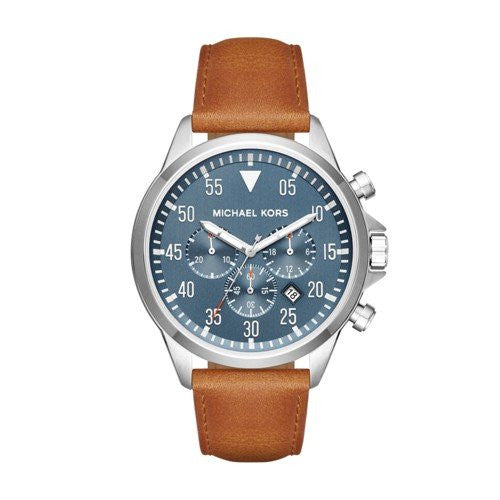 Michael Kors Men's Gage Silver-Tone Watch MK8490