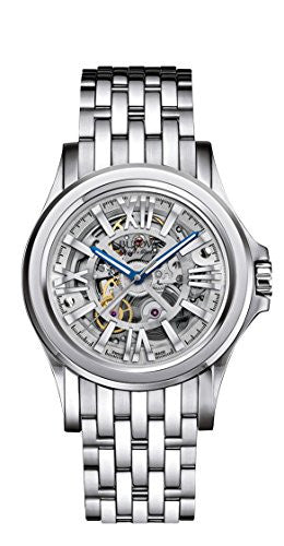 Bulova Men's 'Kirkwood' Swiss Automatic Stainless Steel Casual Watch, Color:Silver-Toned (Model: 63A123)
