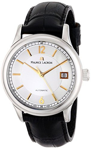 Maurice Lacroix Men's LC6027-SS001-121 Les Classiques Analog Display Swiss Automatic Black Watch