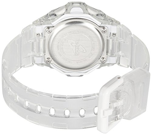 Casio Baby-G BG169R-7E Face Protector Ion-Plated Metal White Purple Watch Digital