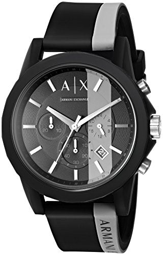 Armani Exchange Men's Active Black Silicone Watch AX1331