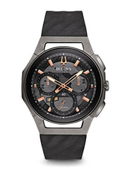 Bulova CURV Chronograph Black and Titanium Watch 98A162
