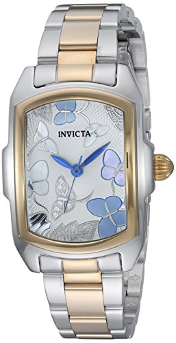 Invicta Women's 'Lupah' Quartz Stainless Steel Dress Watch, Color:Two Tone (Model: 23220)