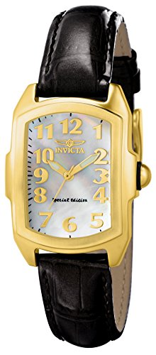 "Invicta Women's 13834 ""Lupah"" 18k Gold-Plated Stainless Steel Mother-Of-Pearl Dial Watch"