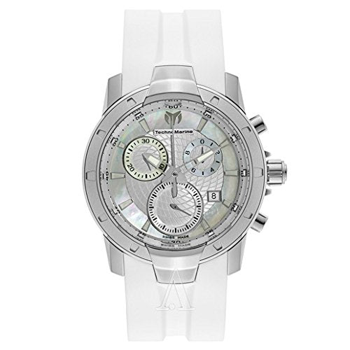 TechnoMarine Unisex 610003 UF6 Chronograph White MOP Dial Watch