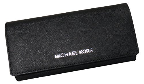 473e5aa8a690 Michael Kors Jet Set Travel Carryall Saffiano Leather Wallet Black —  RealWatches.com