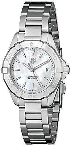 TAG Heuer Women's WAY1412.BA0920 Aquaracer Analog Display Quartz Silver Watch