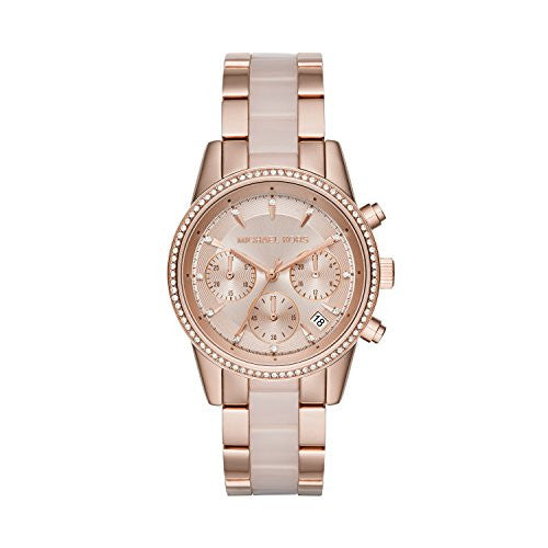 Michael Kors Women's Ritz Rose Gold-Tone Watch MK6307