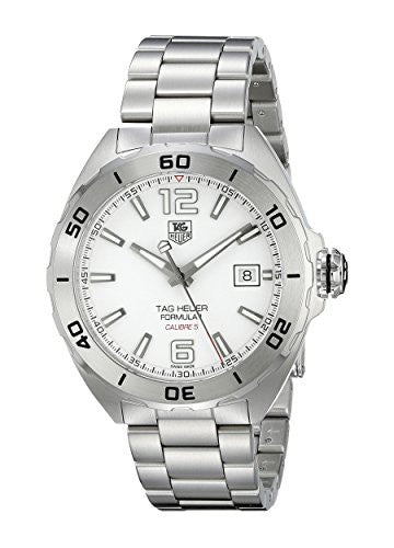 TAG Heuer Men's WAZ2114.BA0875 Analog Display Automatic Self Wind Silver Watch