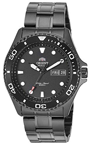 Orient Men's FAA02003B Japanese Automatic Sport Watch with Stainless Steel Strap, Silver, 22 (Model: FAA02003B9)