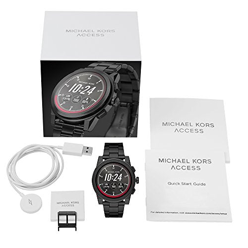 Michael Kors Access, Men's Smartwatch, Grayson Black-Tone Stainless Steel, MKT5028