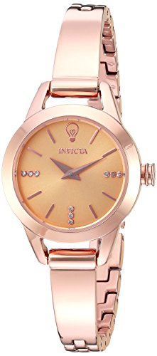 Invicta Women's 'Gabrielle Union' Quartz and Stainless-Steel Casual Watch, Color:Rose Gold-Toned (Model: 22951)