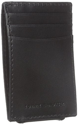 Tommy Hilfiger Men's  Fordham Front Pocket Wallet,Black,One Size