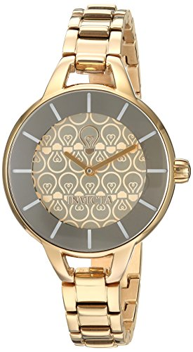 Invicta Women's 'Gabrielle Union' Quartz and Stainless Steel Casual Watch, Color:Gold-Toned (Model: 22912)