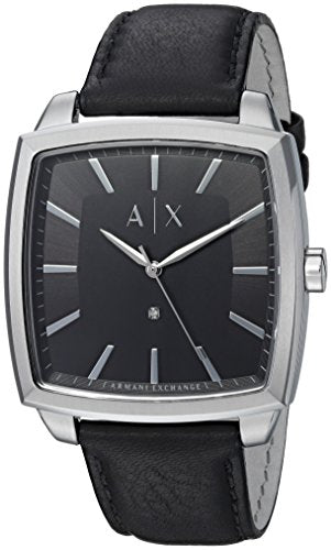 Armani Exchange Men's AX2362 Stainless Steel Black Leather Watch