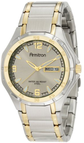 Armitron Men's 204309GYTT Two-Tone Stainless Steel Round Dial Dress Watch
