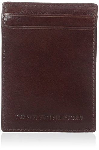 Tommy Hilfiger Men's York  SlimMagnetic Front Pocket Wallet, Tan, One Size