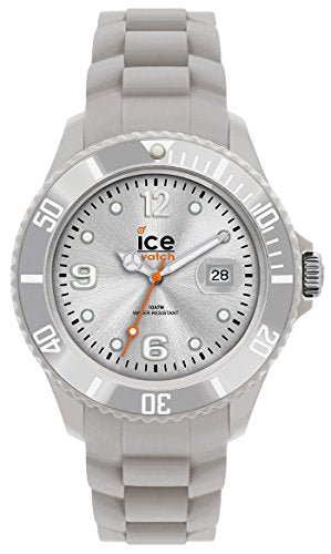 Ice-Watch Men's SI.SR.B.S.09 Sili Collection Silver Plastic and Silicone Watch