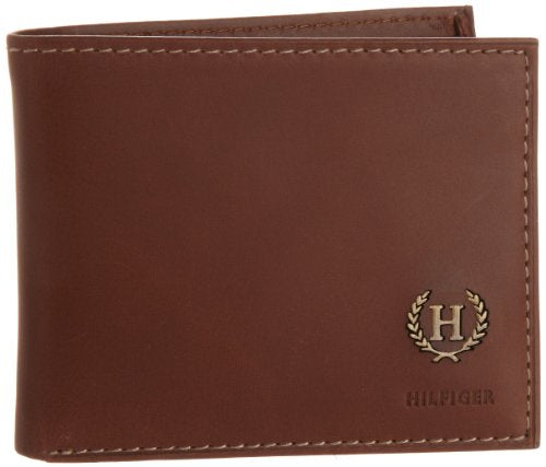 Tommy Hilfiger Men's Hove passcase billfold,Tan,One Size