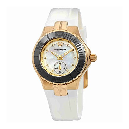 Technomarine Women's 'Cruise' Quartz Gold-Tone and Silicone Casual Watch, Color:White (Model: TM-115398)