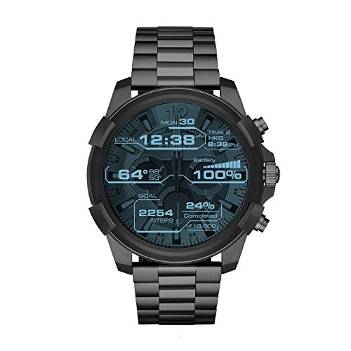Diesel On Full Guard Touchscreen Gunmetal Stainless Steel Smartwatch DZT2004