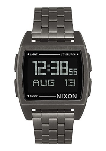 Nixon Base Digital Watch All Gunmetal plus Origami Watch Sleeve